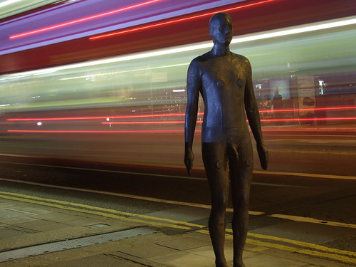 Anthony Gormley statue on Waterloo Bridge