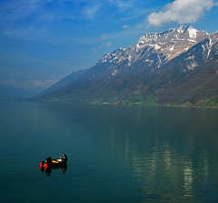 - (lyadarus) Tags: morning mountain lake alps color colour digital switzerland nikon europe fishermen dslr interlaken oberland naturesfinest blueribbonwinner supershot d80 outstandingshots nikonstunninggallery abigfave anawesomeshot impressedbeauty superbmasterpiece diamondclassphotographer