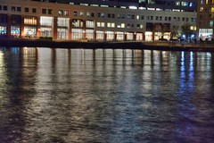 Light Across the Water (esywlkr) Tags: hudsonriver nj newjersey jerseycity night water river reflection