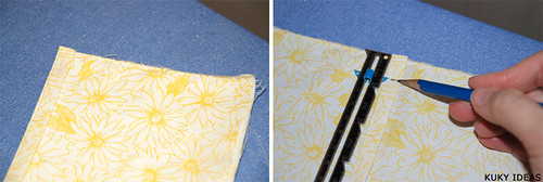 Shirred dress tutorial - placing the straps