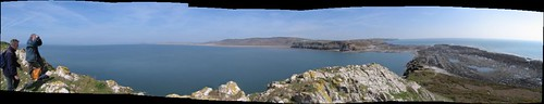 The Panoramic view from the top of Worm's Head