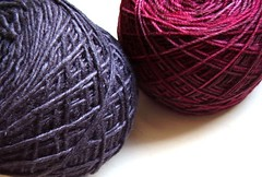 together (a thousand black dreams) Tags: cherries sock yarn charcoal cashmere blend silkmerino