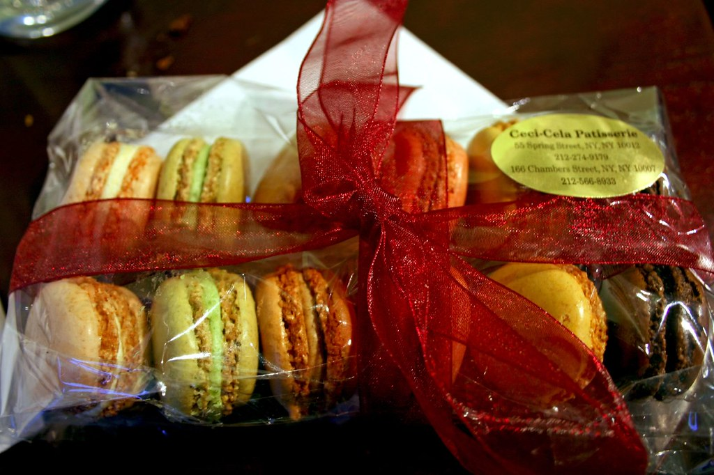 The package of macarons...