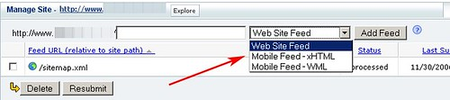 Yahoo! Site Explorer Adds Mobile Site Submission Support