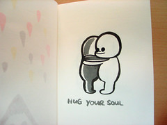Hug Your Soul (Bubi Au Yeung) Tags: black illustration ink sketch hug drawing bubi gray sketchbook doodle pentelcolorbrush hugyoursoul youmayloseit apageonmysketchbook