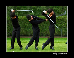 Edwin Thomann (Waechor) Tags: motion france green grass sport golf bodylanguage swing player multiplicity grandprix photomontage myfavs 2007 faved bondues edwinthomann