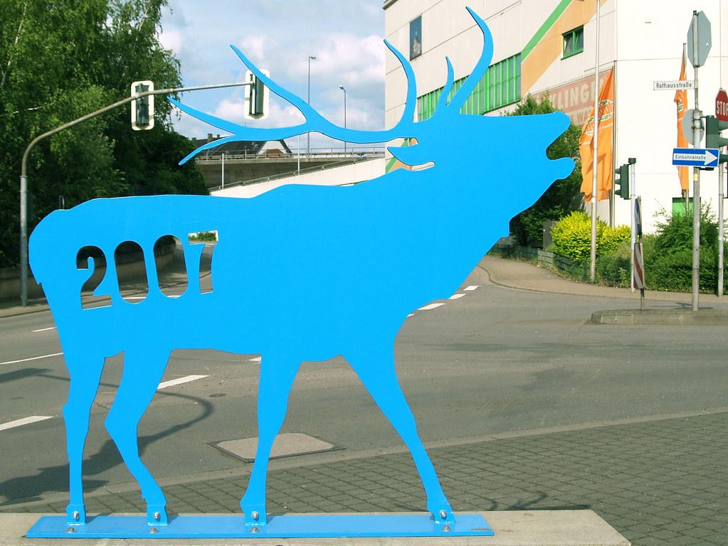 Blauer Hirsch
