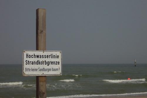 Bitte keine Strandburgen bauen