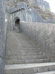 Maha darwaja (Marathi:  ) (dinesh_valke) Tags: ruins fort ramparts killa lonavala westernghats sahyadri hillfort konkan lohagad malavli sahayadri  theironfort   mahadarwaja