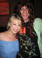 Page Morgan and Seksi, in a wig