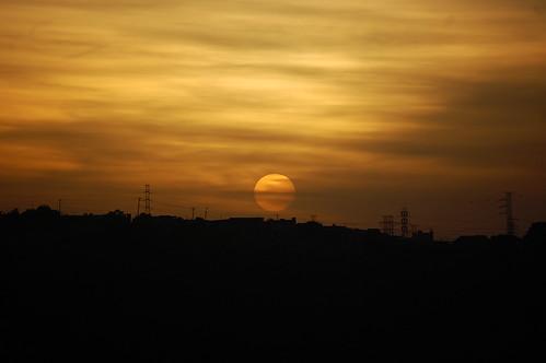 Pôr-do-Sol em Poá - por Conrado Tramontini