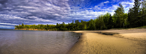Barrier Beach HDR-Pano by elventear.