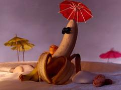 [フリー画像] [食べ物] [果物/フルーツ] [バナナ] [人形]       [フリー素材]