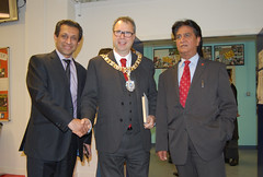 Foysol & Shami with Lord Provost Rt Hon Donald wilson