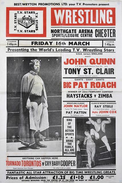 wrestling poster, chester
