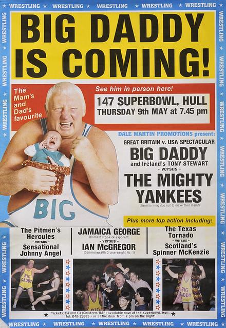 wrestling poster, hull - 1991