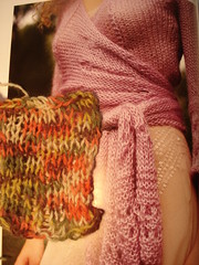 Airy wrap swatch. (stupid clever) Tags: glampyre kimonoangora fittedknits airywrap