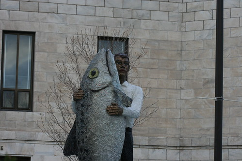 I've heard of tree hugging, but fish hugging?