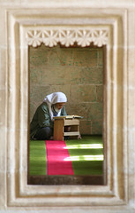 Praying (Pieter D) Tags: travel portrait turkey urfa mosque imam thebigone pieterd