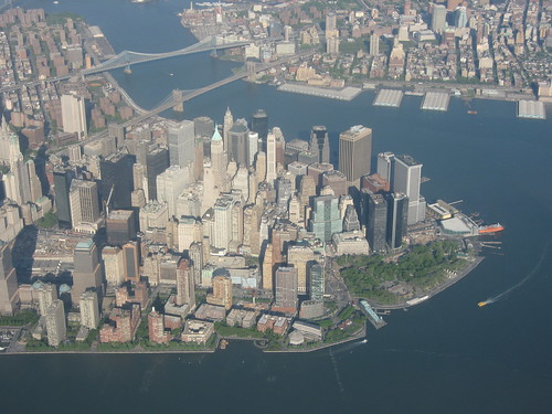 Aerial photo of Manhattan