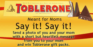 Toblerone Say It! Say It! Contest