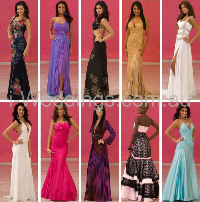 i-Weddings: Fashion - iLoveThese Miss Universe 2007 evening gowns