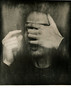 pluto ({anna malina}) Tags: lithprint mediumformat mamiyarb67 silvergelatinprint darkroom portrait 120film fujineopanacros pushprocess iso400 blackandwhite hands