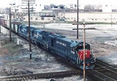 SSW 7789 on CR INCB-7, CP Preston, 1980-04-07 (redheadedrobbie1) Tags: conrail cr ssw cottonbelt southernpacific espee ge generalelectric b307 uboat u23b railroad railfan locomotive diesel freight terrehaute cppreston cp68 milwaukeeroad