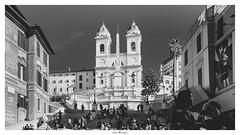 Piazza di Spagna (Photo Holica) Tags: piazzadispagna rom trinitadeimonti street bw black white sony za variotessartfe41635 alpha 7m2
