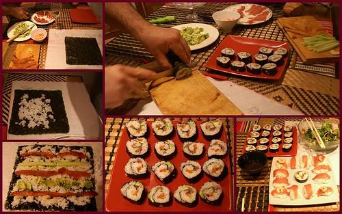 Les maki sushis