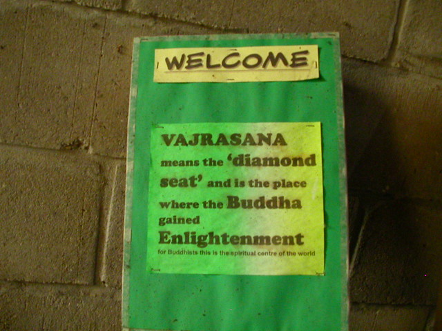 Vajrasana open day sign