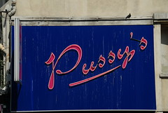 Dirty Pussy (Elliot Moore) Tags: street pink blue paris bird sign club neon day pussy dirty strip poo pidgeon faved