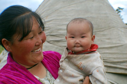 "Tsaatan Mother and Child - Mongolia • <a style=""font-size:0.8em;"" href=""http://www.flickr.com/photos//456972295/"" target=""_blank"">View on Flickr</a>"