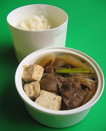 Sukiyaki lunches & preventing fruit from browning