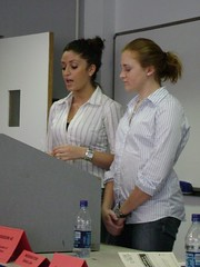Presenters Zeina Hinnawi and Katherine Easter at the 2007 University Writing and Research Symposium