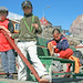 Uummannaq, Kids at the pier