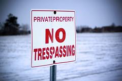 No Tresspassing (Trevor Smiley) Tags: winter snow cold sign lenstagged notresspassing tresspassing 70300mmf456d afzoomnikkor70300mmf456ded nikon70300mmf456