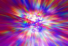Diamond Meteor (Heaven`s Gate (John)) Tags: sea color colour reflection wet water wow rainbow movement zoom fantasy refraction stunning outerspace jewel heavensgate sifi mulicolour siencefiction johndalkin