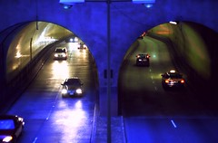Wink (Linus Gelber) Tags: sanfrancisco california cars topv111 1025fav underground driving traffic tunnel headlights 525fav broadwaytunnel gloomyheart sfchronicle96hours gsubby122109