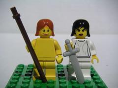 Muses of the Theater (Dunechaser) Tags: greek comedy theater lego pantheon muses greece tragedy gods minifig minifigs mythology greekmythology