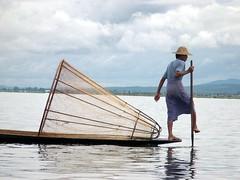 Inle Lake fisherman - by Egui_