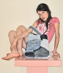 Jeans bag 1 (fantazya fantazies) Tags: people fashion bag handmade purse recycling