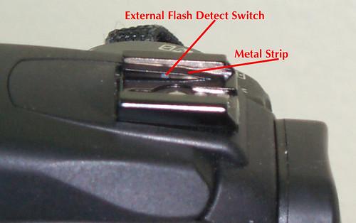 Pop up flash won't pop up   Canon EOS 400D (aka  Rebel XTi