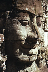 Scarface (Kenny Maths) Tags: travel face stone cambodia southeastasia siemreap angkor angkorthom bayontemple interestingness170 kennymathieson