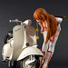Kasumi Checks Out the Vespa