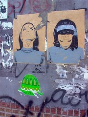 twins (justiNYC) Tags: street nyc streetart art brooklyn graffiti paint williamsburg sart justinyc