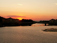 end of another day (idlelight) Tags: ital italia florence firenze sunset arno silhouette clouds twilight tramonto crepuscolo magritte