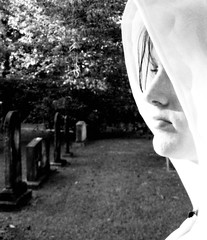 Someone Save Me (Concubine) Tags: people blackandwhite bw girl strange graveyard promotion mystery canon dark death sadness interesting scary fantastic alone darkness artistic sca cemetary tombstone gothic dramatic powershot haunted womenonly spooky odd morbid gravestone mysterious canona95 haunting ghostly renaissance macabe canona95powershot topphotoblog