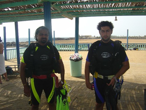 Me & Rabiah ready for the dive