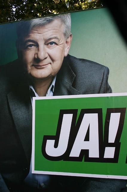 Joschka Fischer Wahlplakat